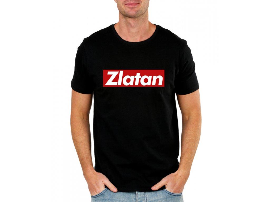 pánské černé tričko zlatan ibrahimovic
