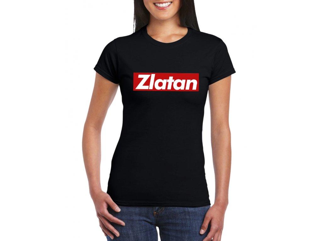 dámské černé tričko zlatan ibrahimovic