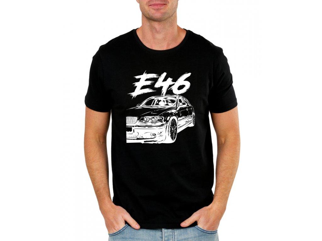 509149e2e52e pánské bílé tričko BMW E46 · pánské černé tričko BMW E46