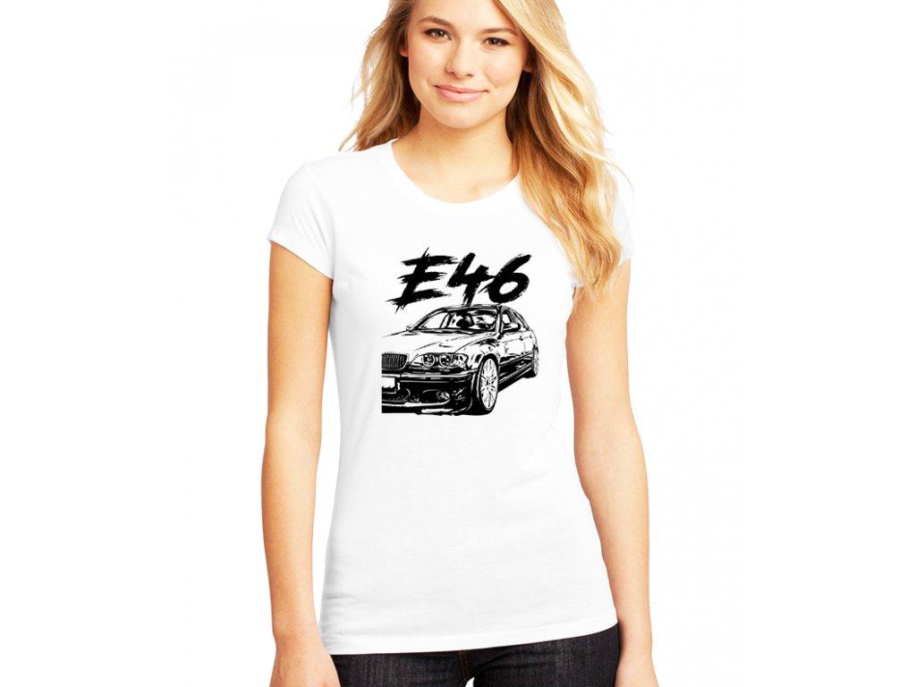 dámské bílé tričko BMW E46