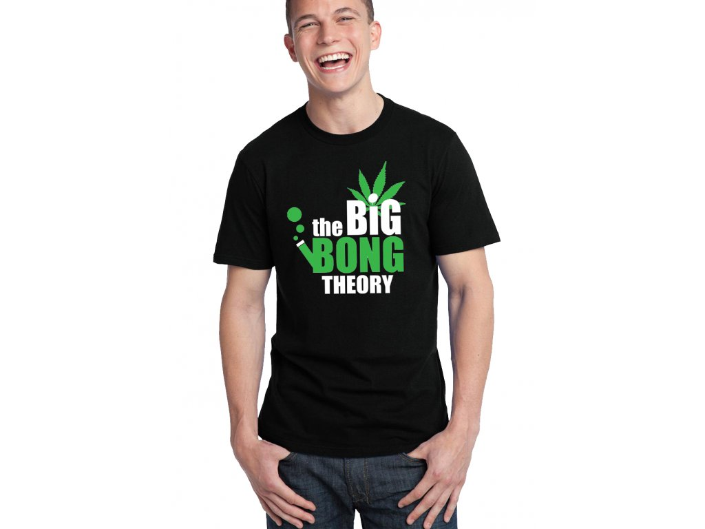 pánské černé tričko THE BIG BONG THEORY
