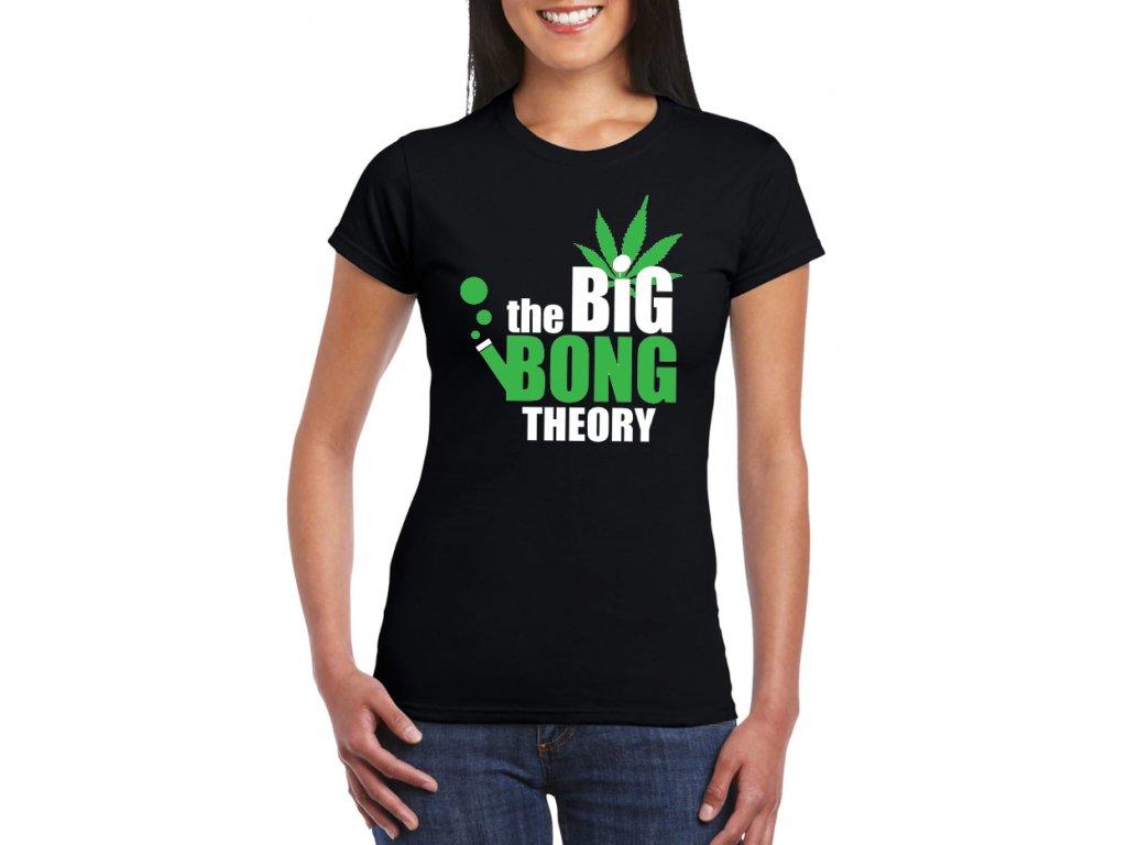 dámské černé tričko THE BIG BONG THEORY