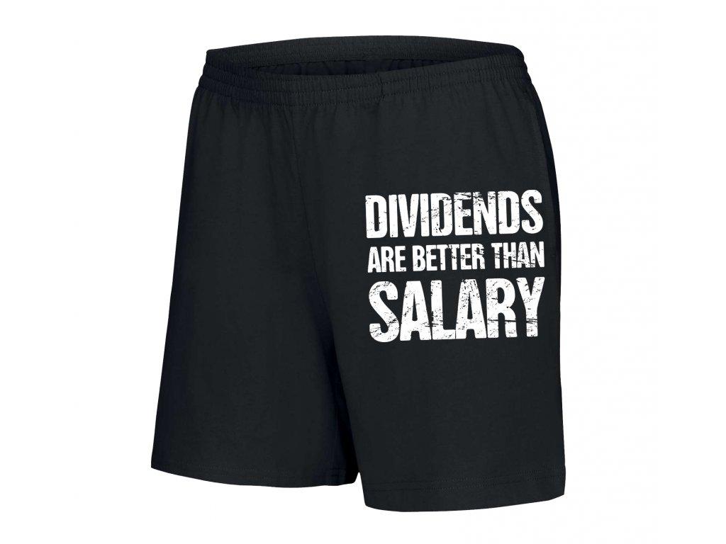 dámské kratasy Dividendy lepší než výplata