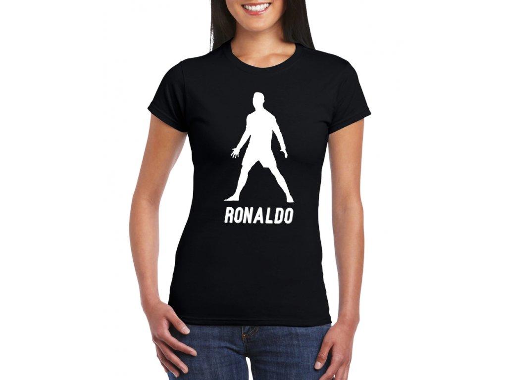 dámské černé tričko cristiano ronaldo cr7