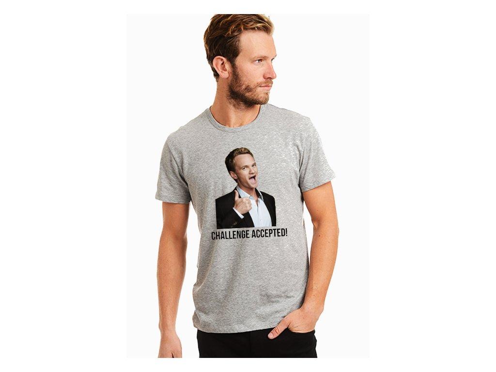 pánské šedé tričko jak jsem poznal vaši matku
