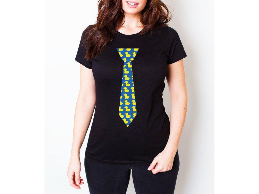dámské černé tričko himym kačenková kravata