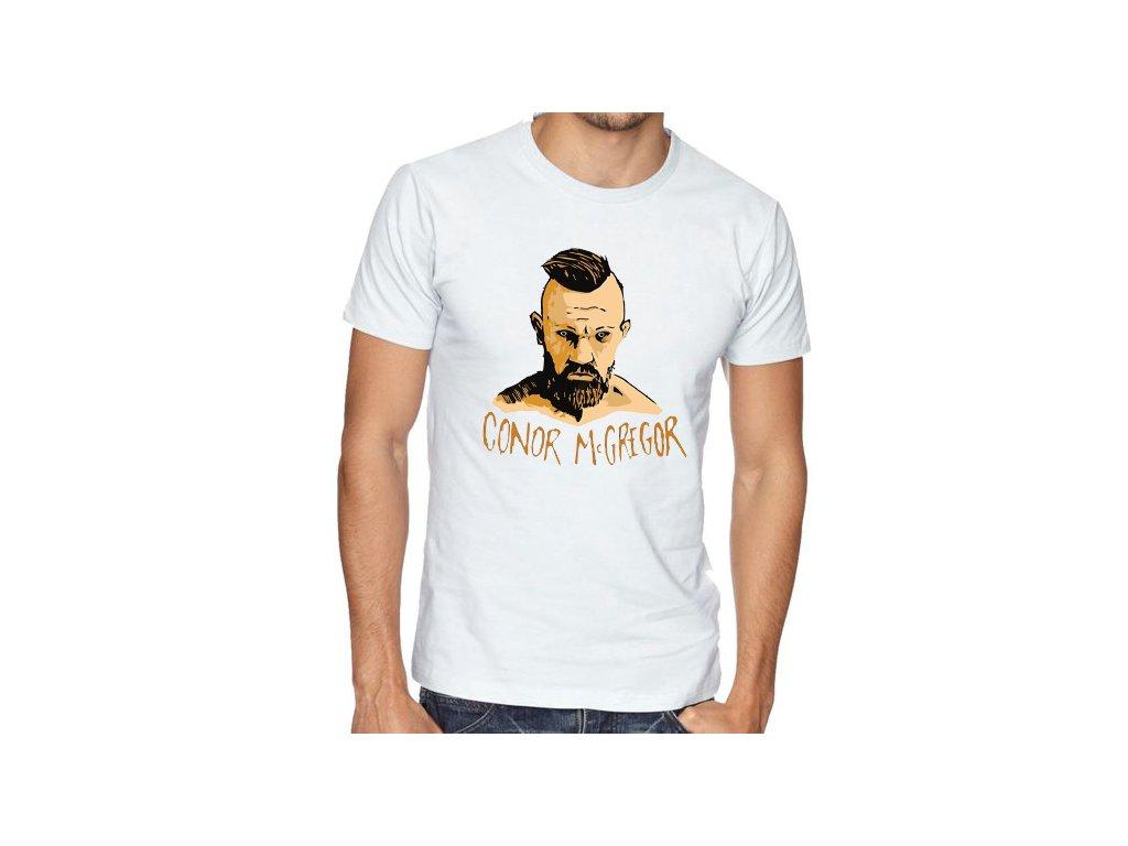 pánské bílé tričko conor mcgregor