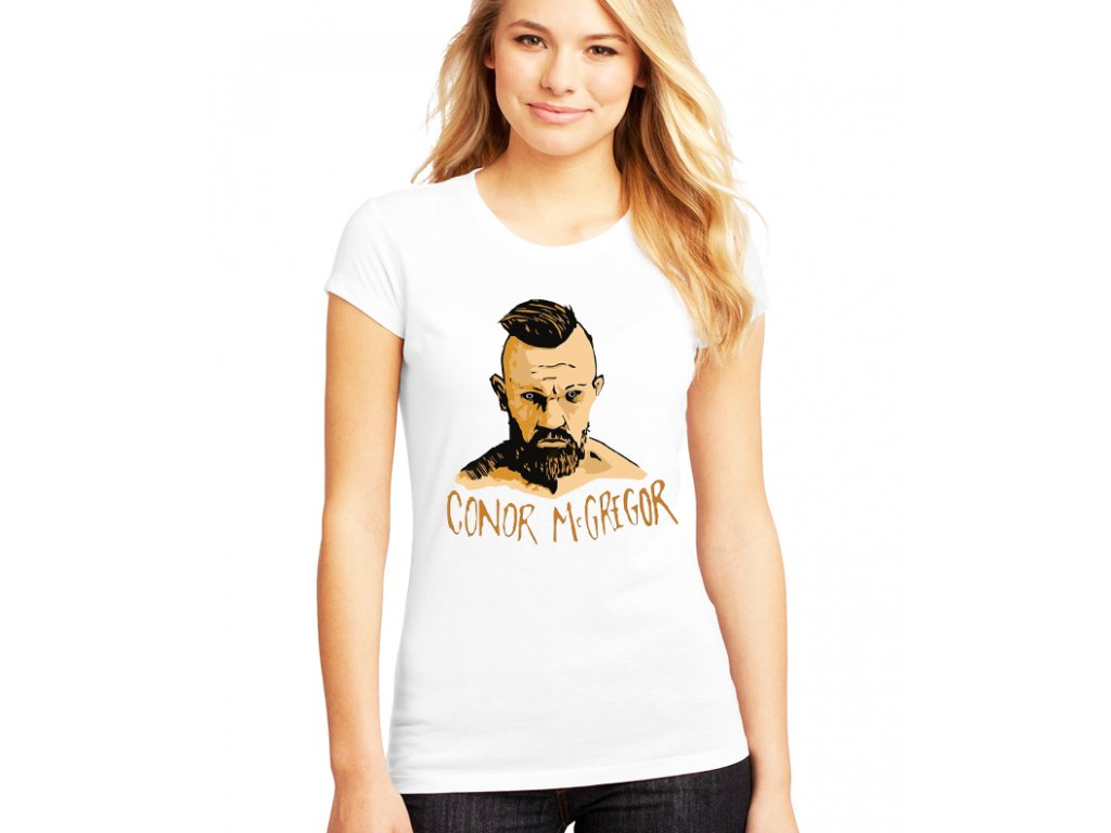 dámské bílé tričko conor mcgregor