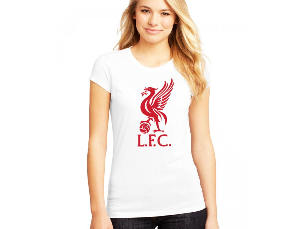 dámské bílé tričko liverpool fc
