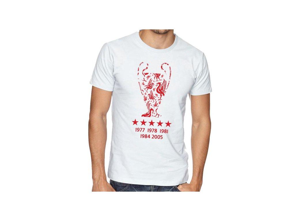 pánské bílé tričko liverpool fc Vítězové Ligy mistrů