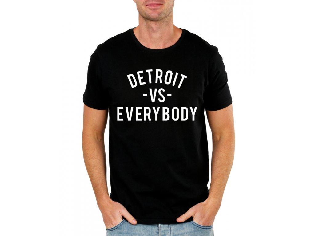 pánské černé tričko eminem detroit
