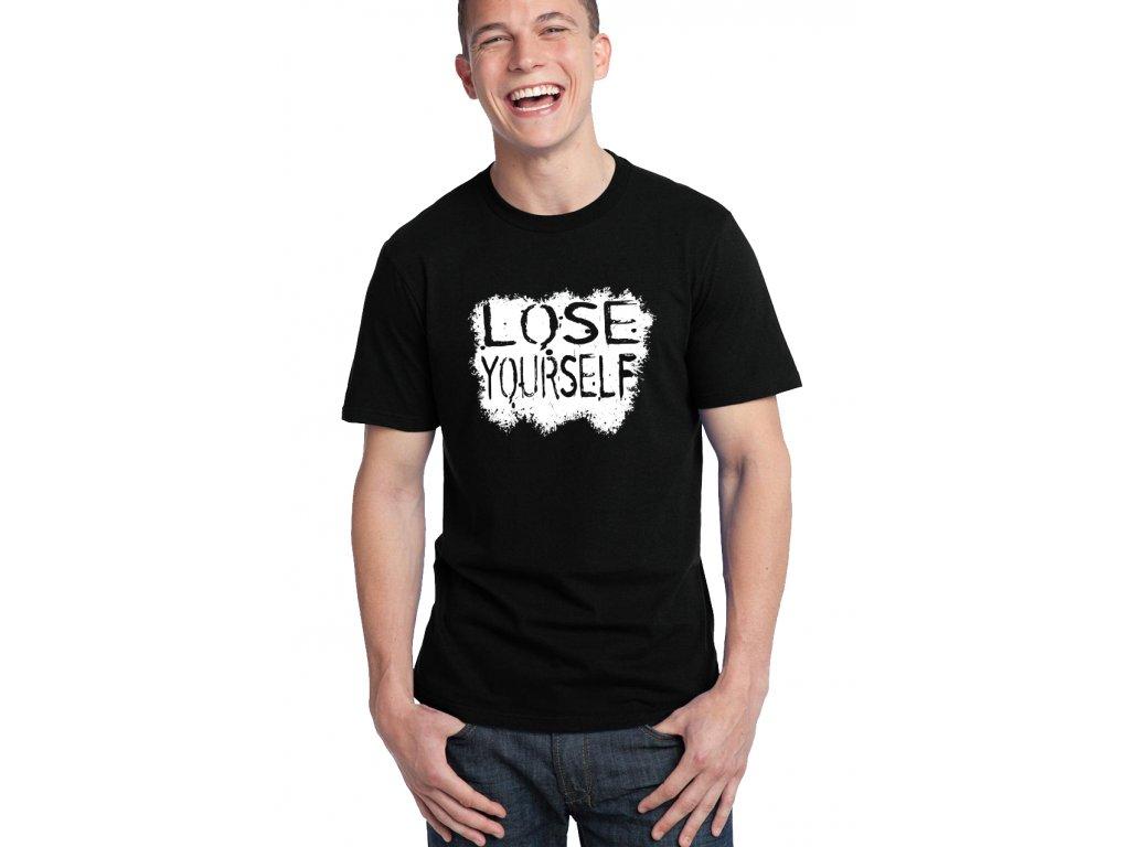 pánské černé tričko eminem lose yourself
