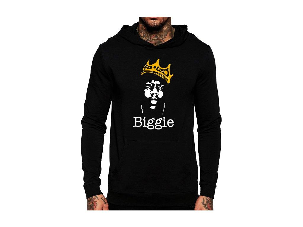 unisex černá mikina s kapucí biggie hip hop afb5e6ee9c