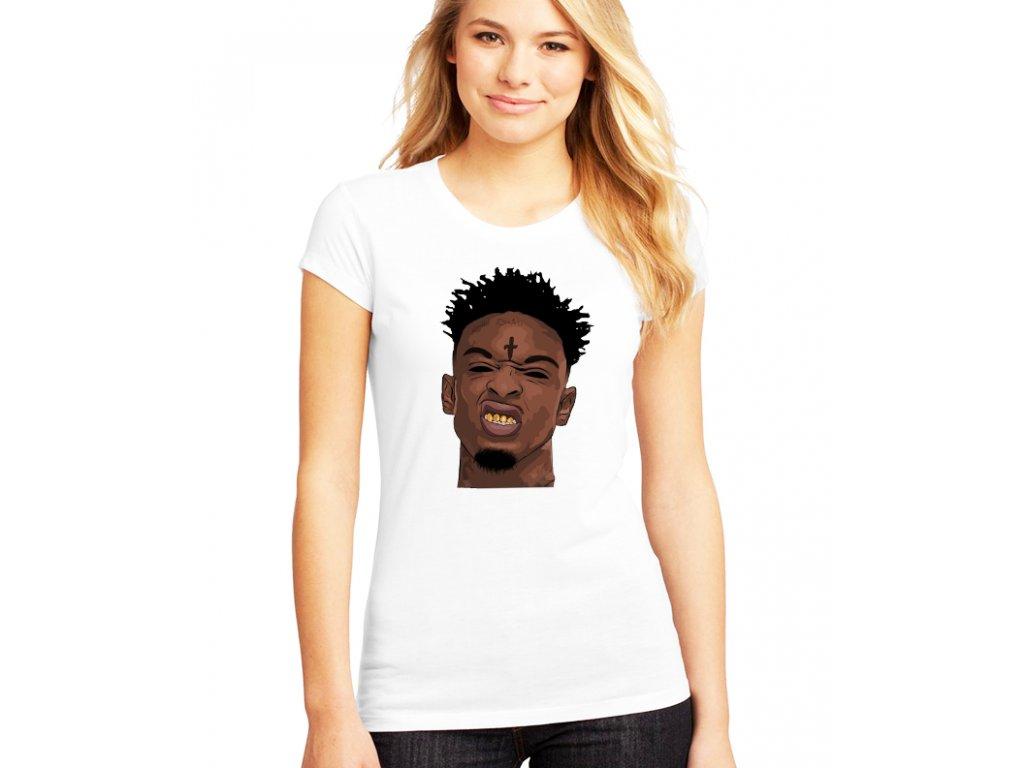 dámské bílé tričko 21 savage
