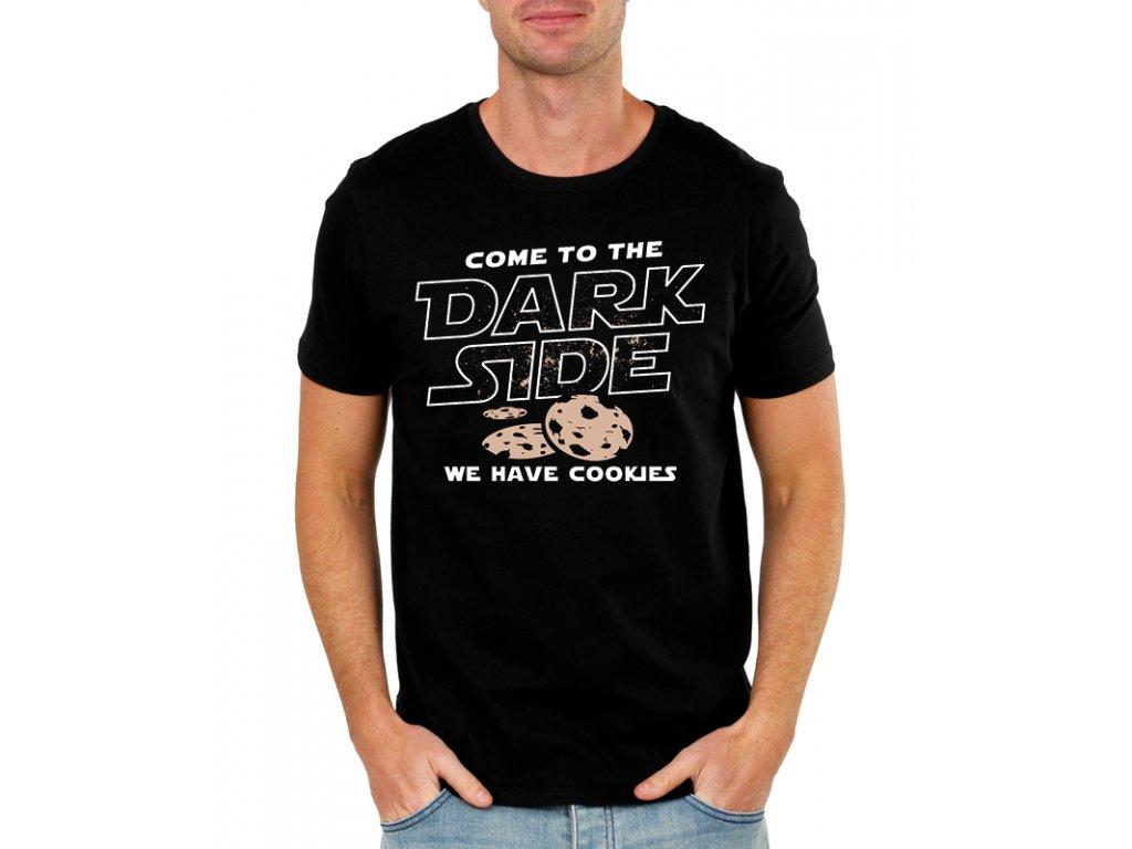 pánské černé tričko starwars přejdi na temnou stranu