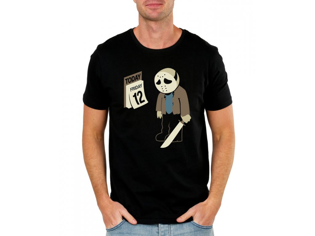 pánské černé tričko pátek třináctého