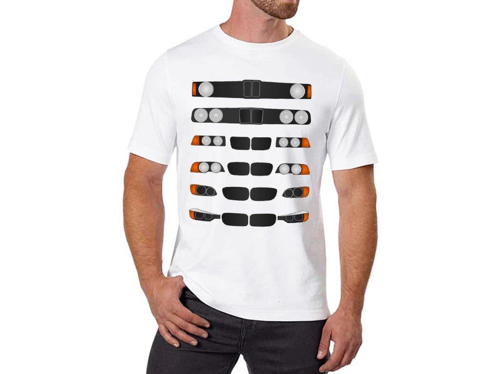 pánské bílé tričko Evoluce BMW 3