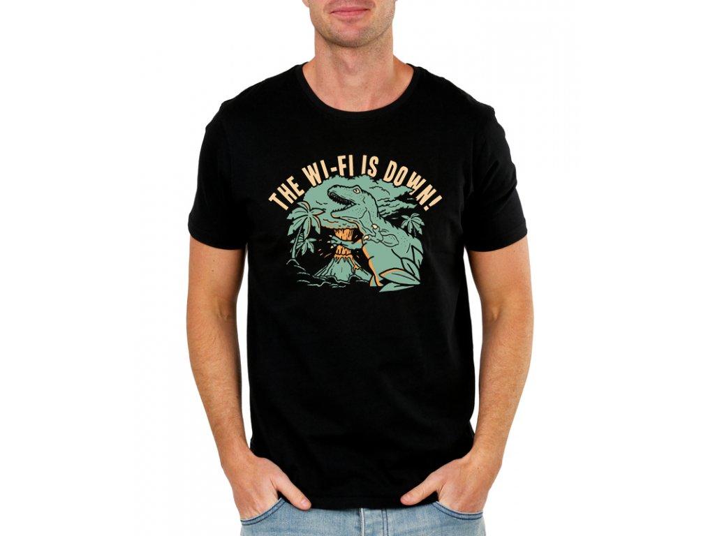 pánské černé tričko Spadla Wifi