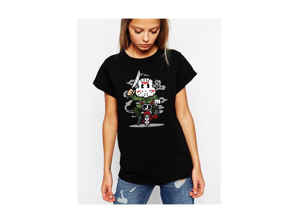 dámské černé tričko Jason Zabiják Pátek 13