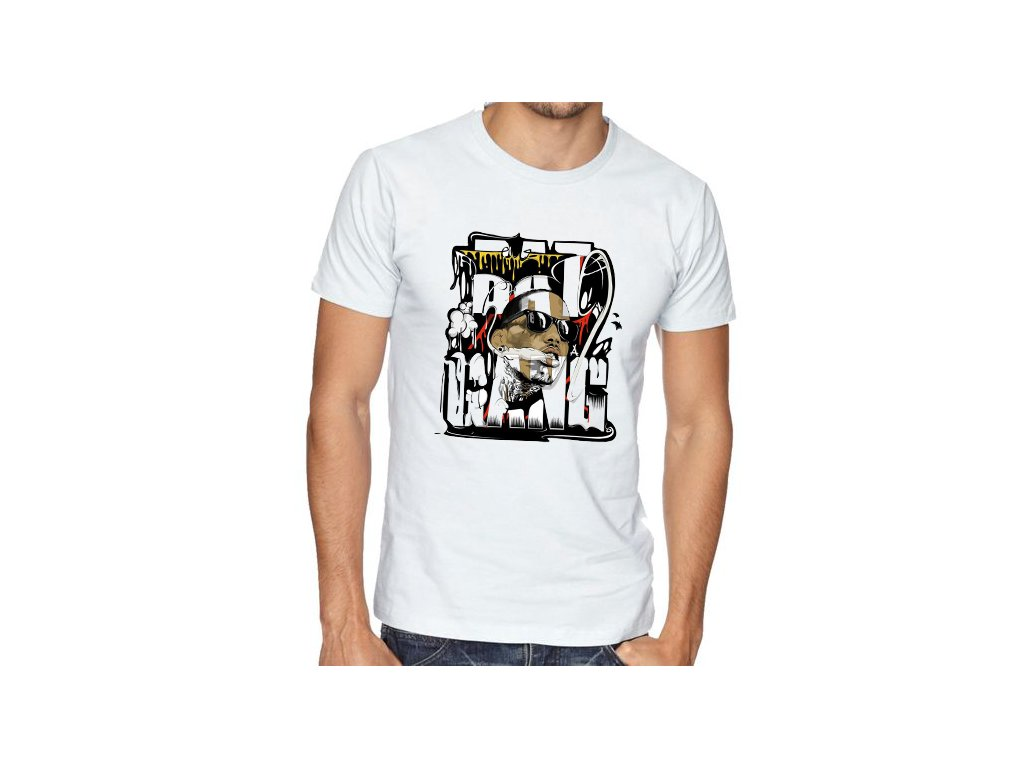 pánské bílé tričko kid ink bat gang