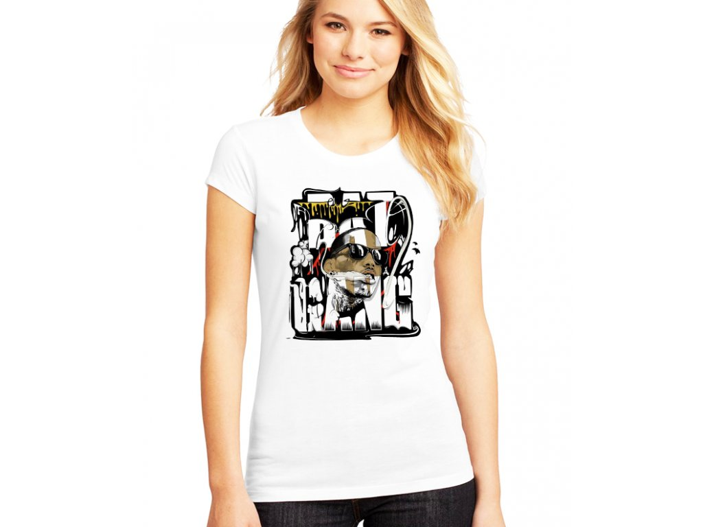 dámské bílé tričko kid ink bat gang