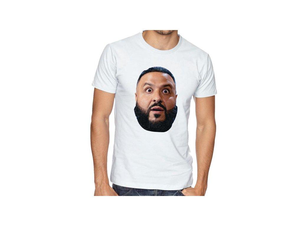 pánské bílé tričko DJ Khaled Překvapený
