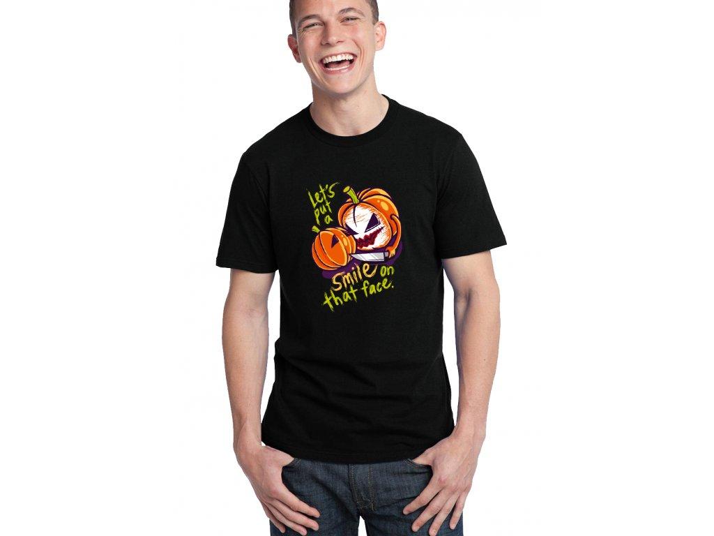 pánské černé tričko joker smile