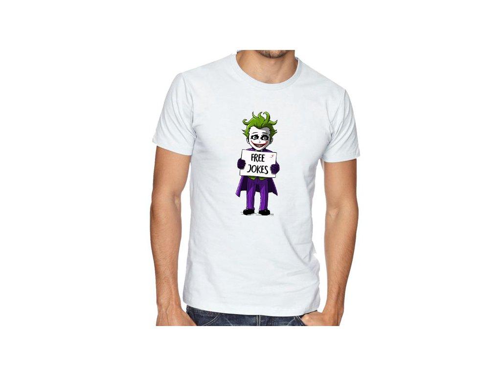 pánské bílé tričko joker vtipy zdarma