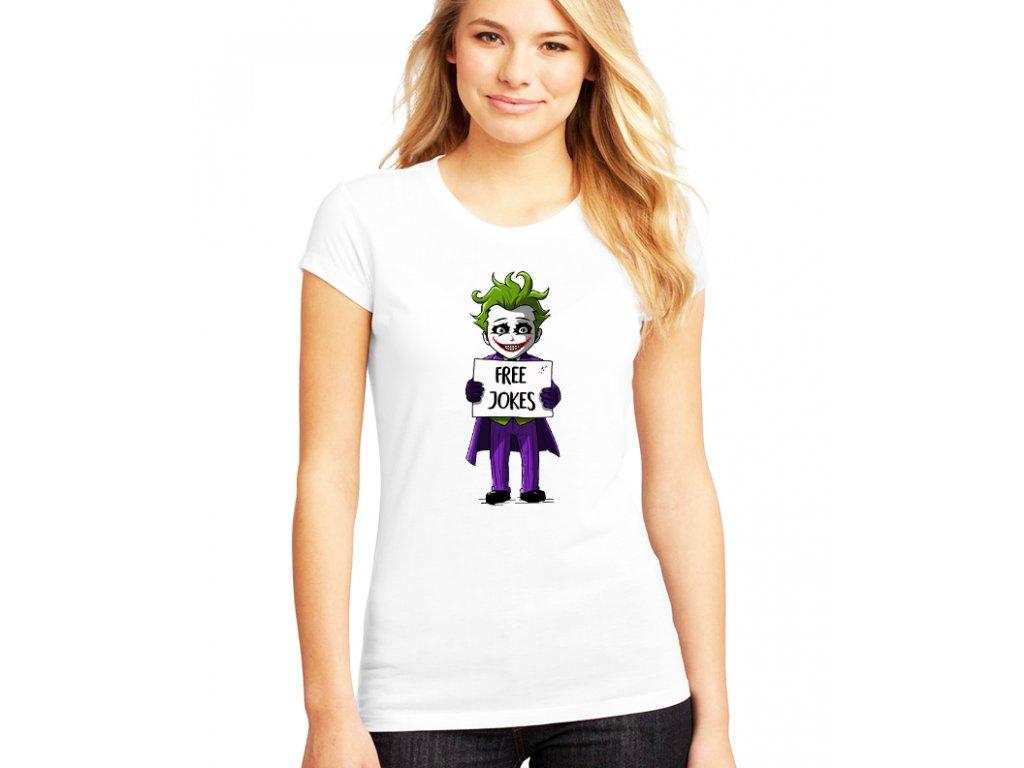 dámské bílé tričko joker vtipy zdarma