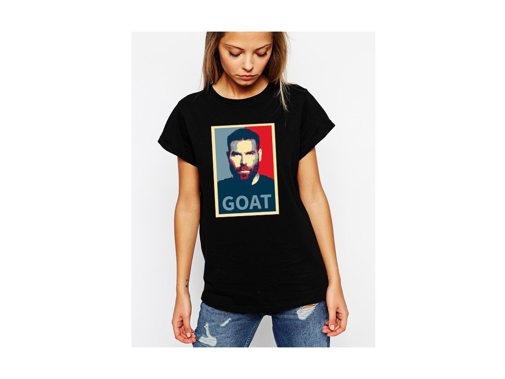 dámské černé tričko dan bilzerian koza