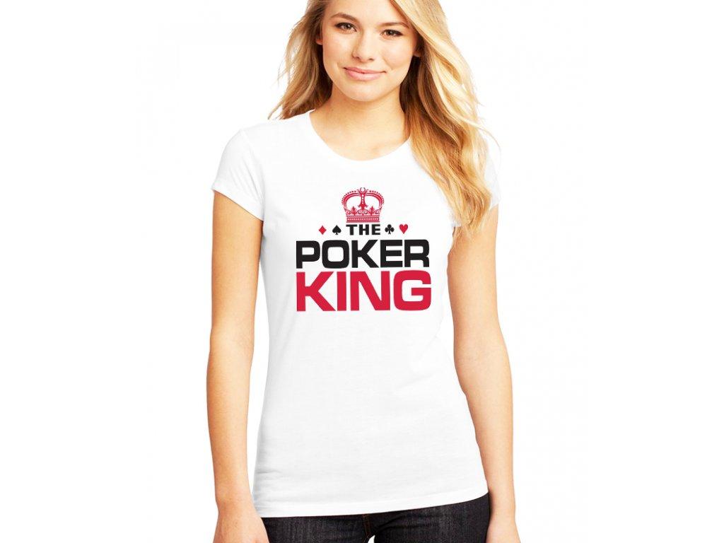 dámské bílé tričko pokerový král