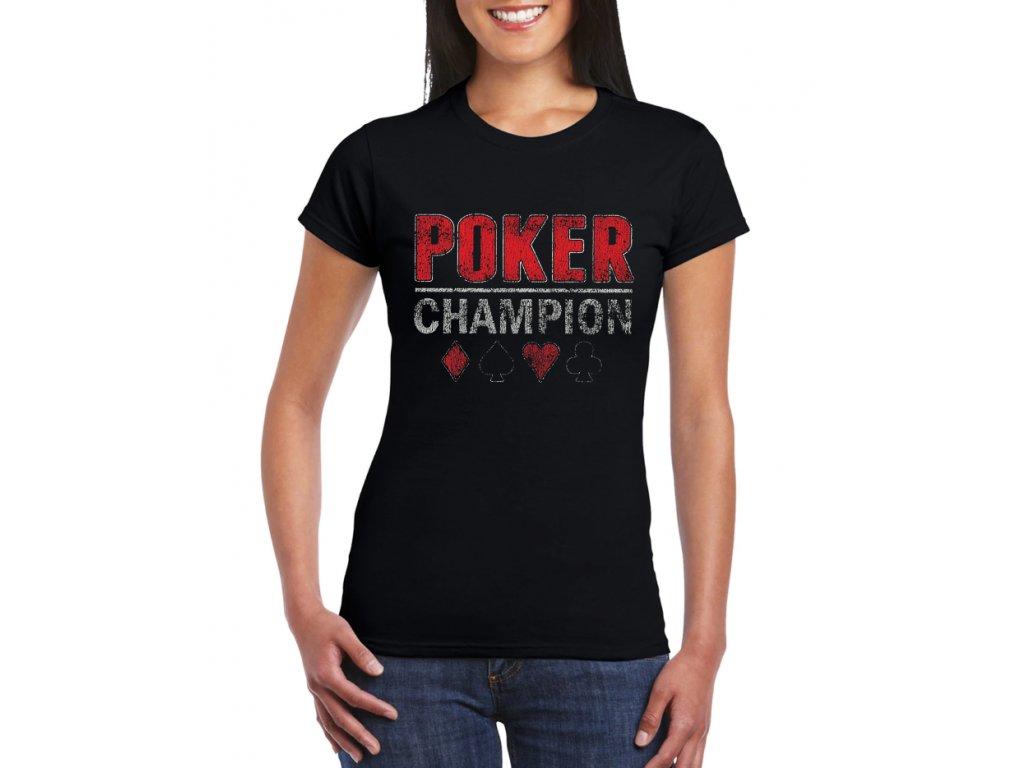 damske tricko Poker Champion