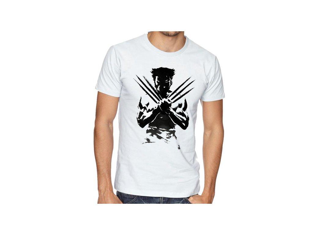 pánské bílé tričko wolverine