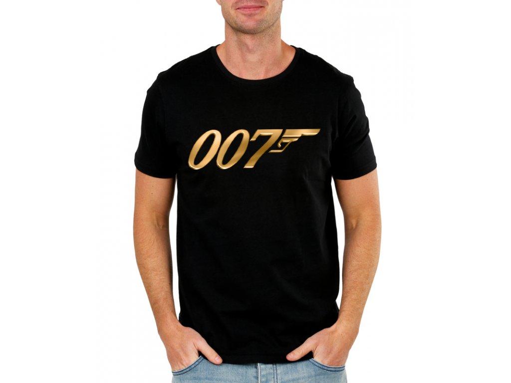 pánské černé tričko james bond 007