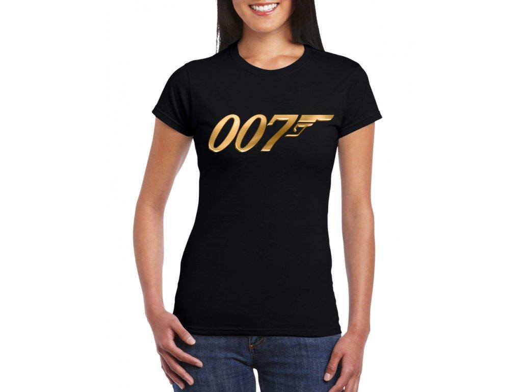 dámské černé tričko james bond 007