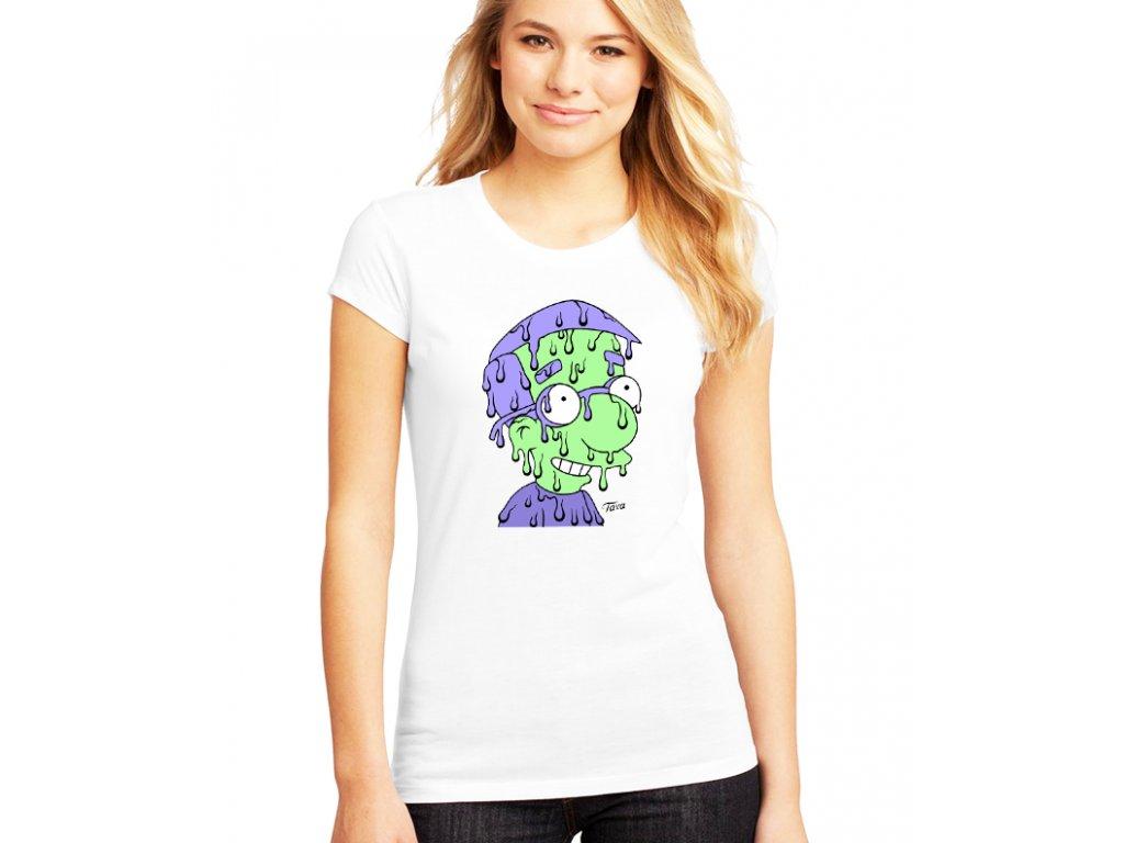 dámské bílé tričko Millhouse