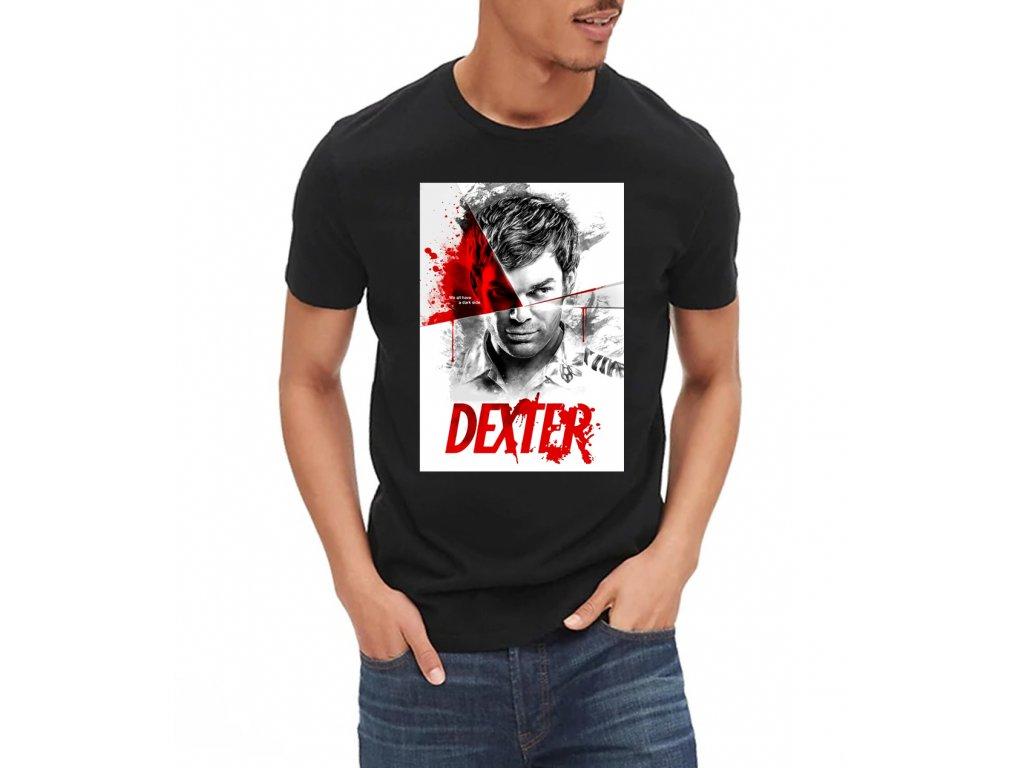 pánské černé tričko Dexter