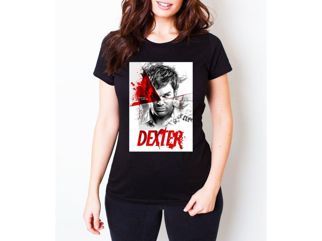 dámské černé tričko Dexter
