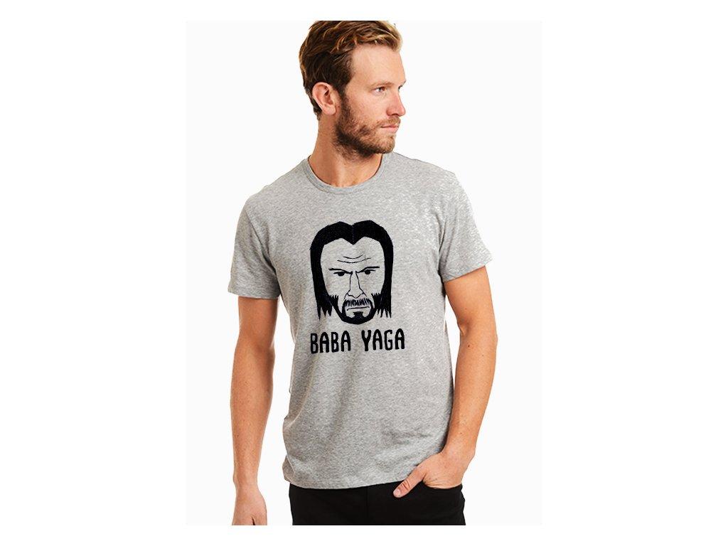 pánské šedé tričko John Wick Baba Yaga