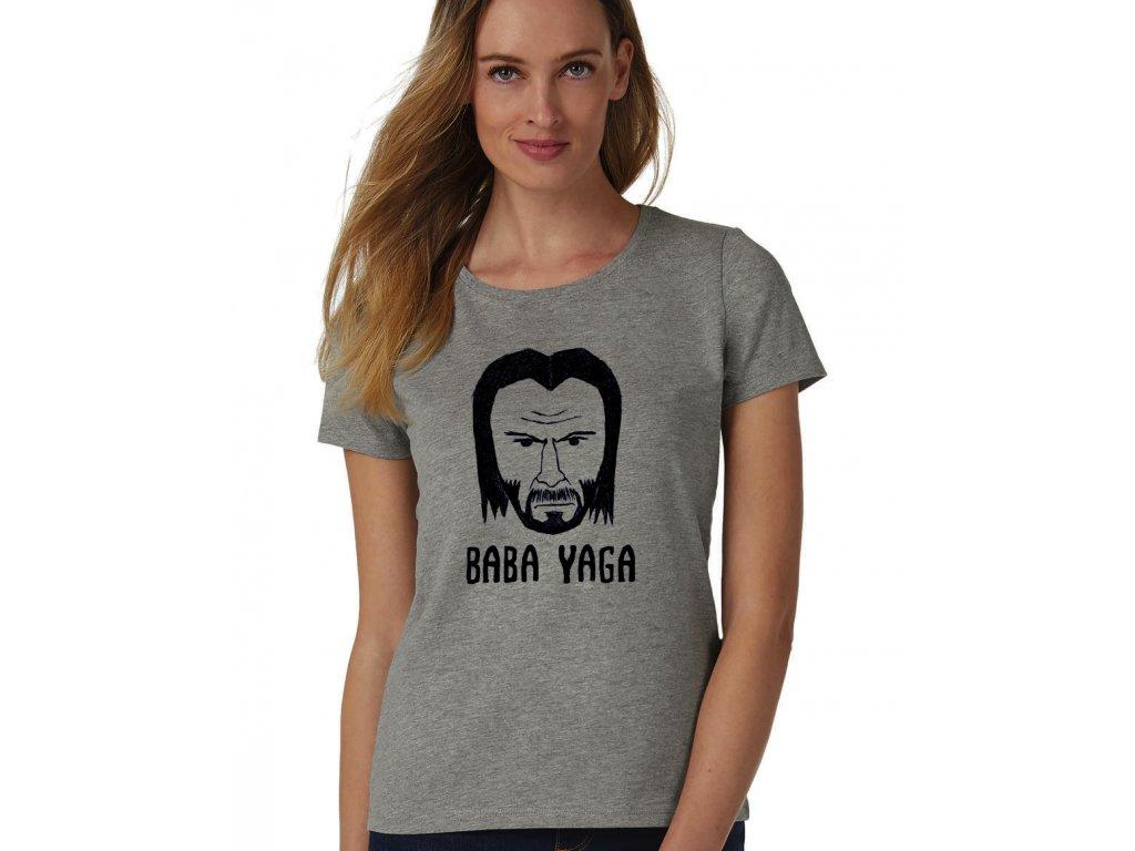 dámské šedé tričko John Wick Baba Yaga