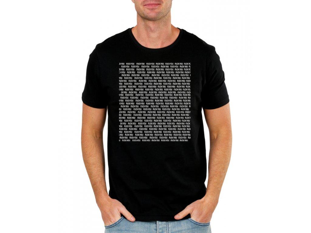 pánské černé tričko fuck you imitace na mma zápasníka Conor mcgregor