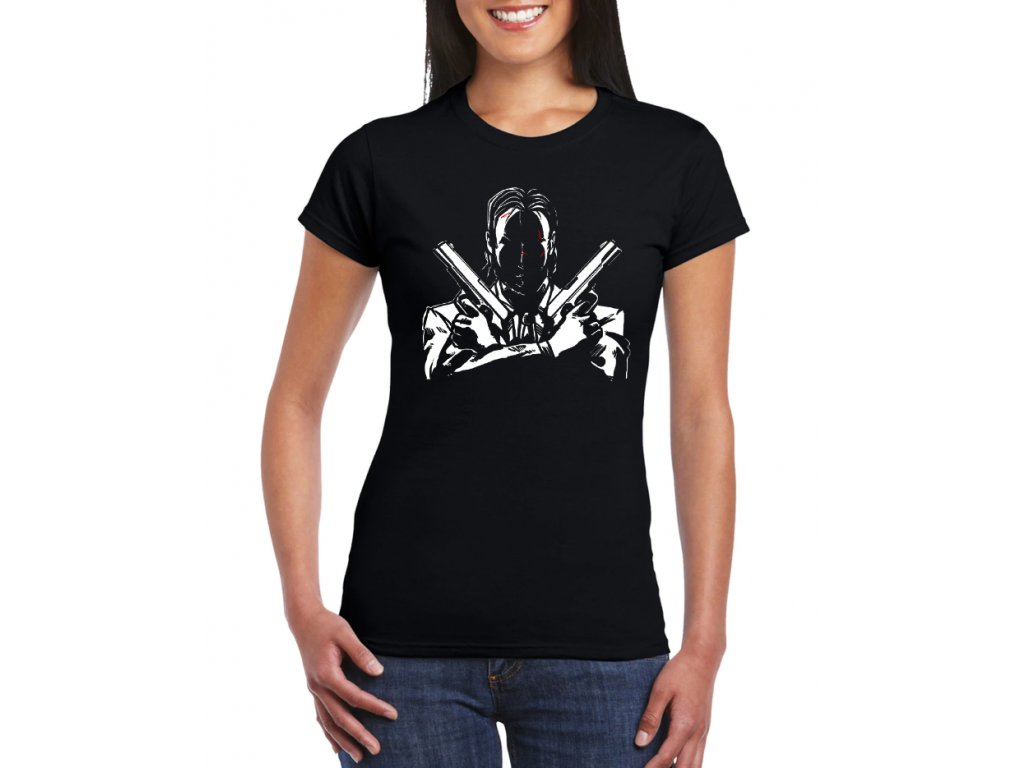 dámské černé tričko John Wick Zabiják