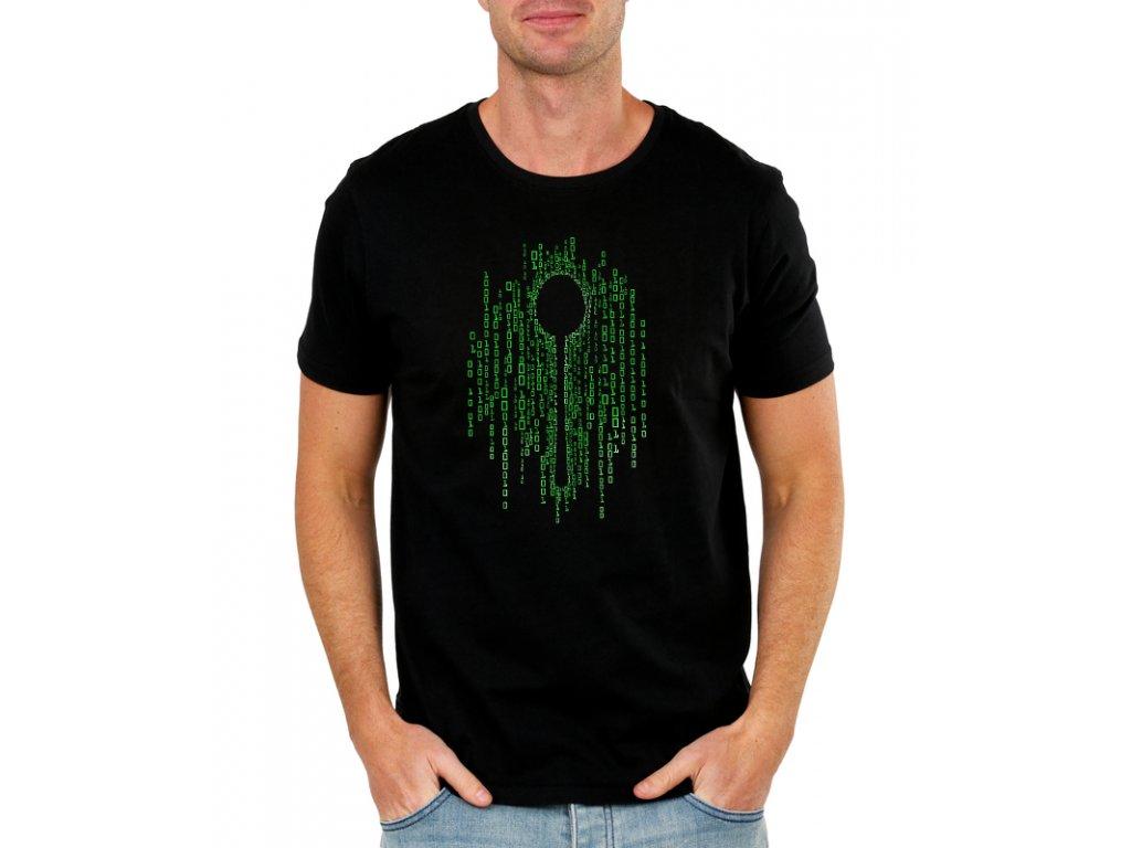 pánské černé tričko matrix lžíce