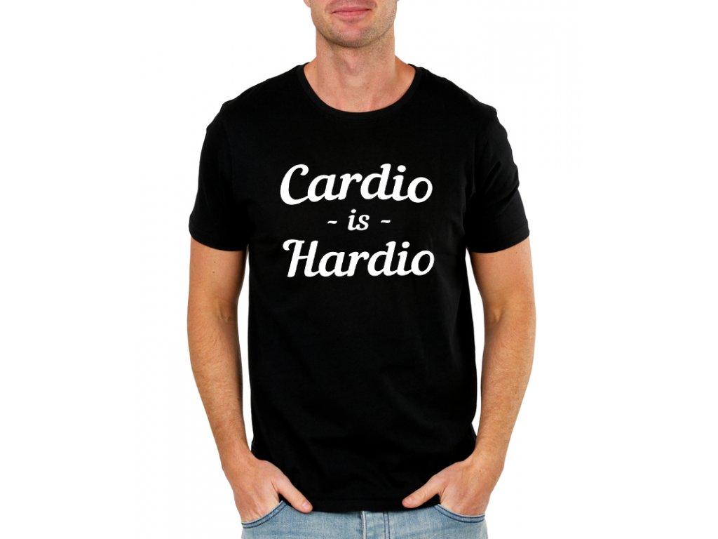 pánské černé tričko Cardio je Hardio