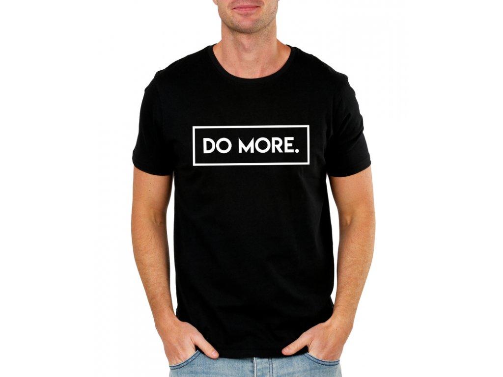 pánské černé tričko Do more