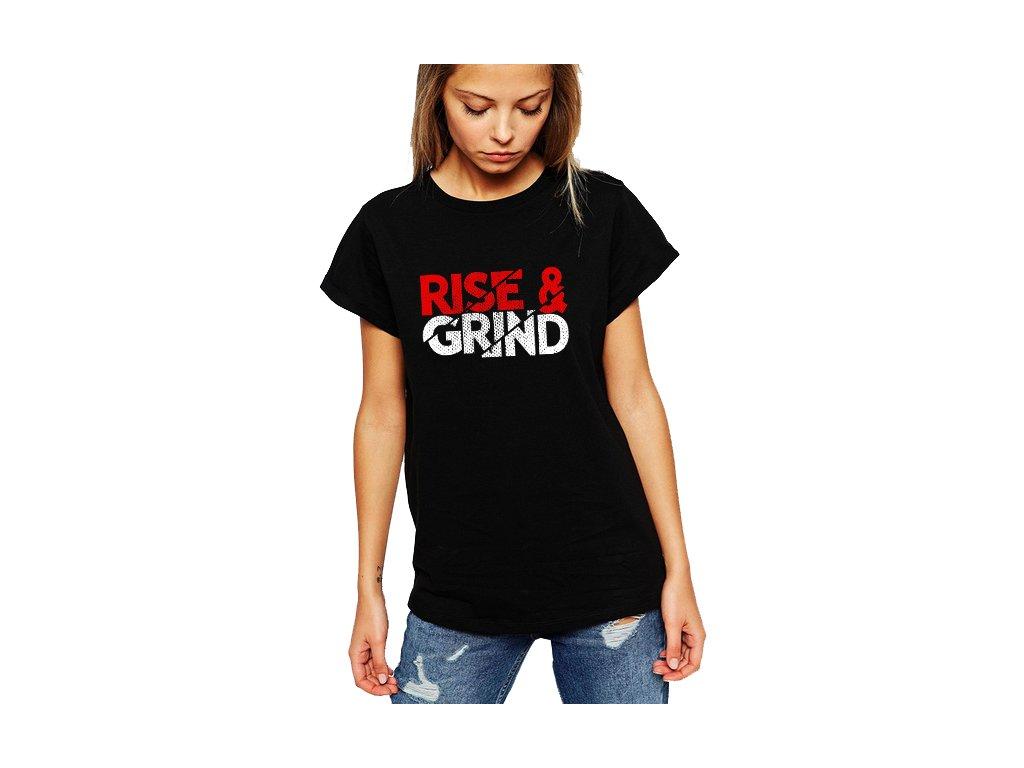 dámské černé tričko růst a makat