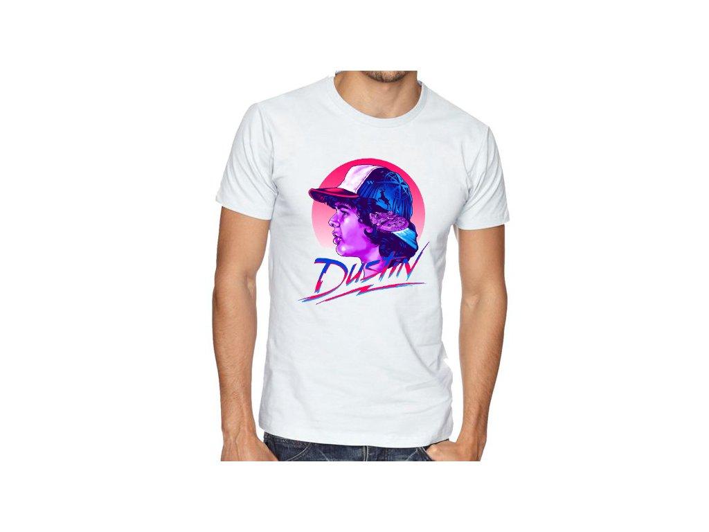 pánské bílé tričko Stranger Things Dustin