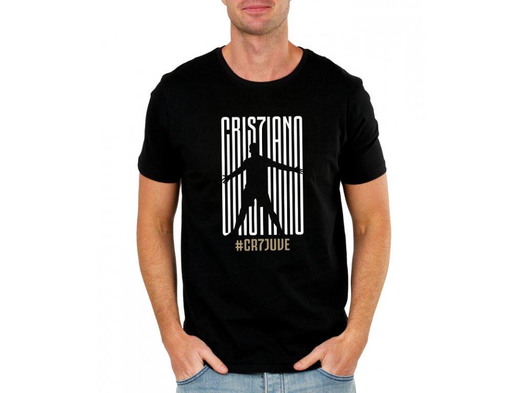 pánské černé tričko cristiano ronaldo juventus