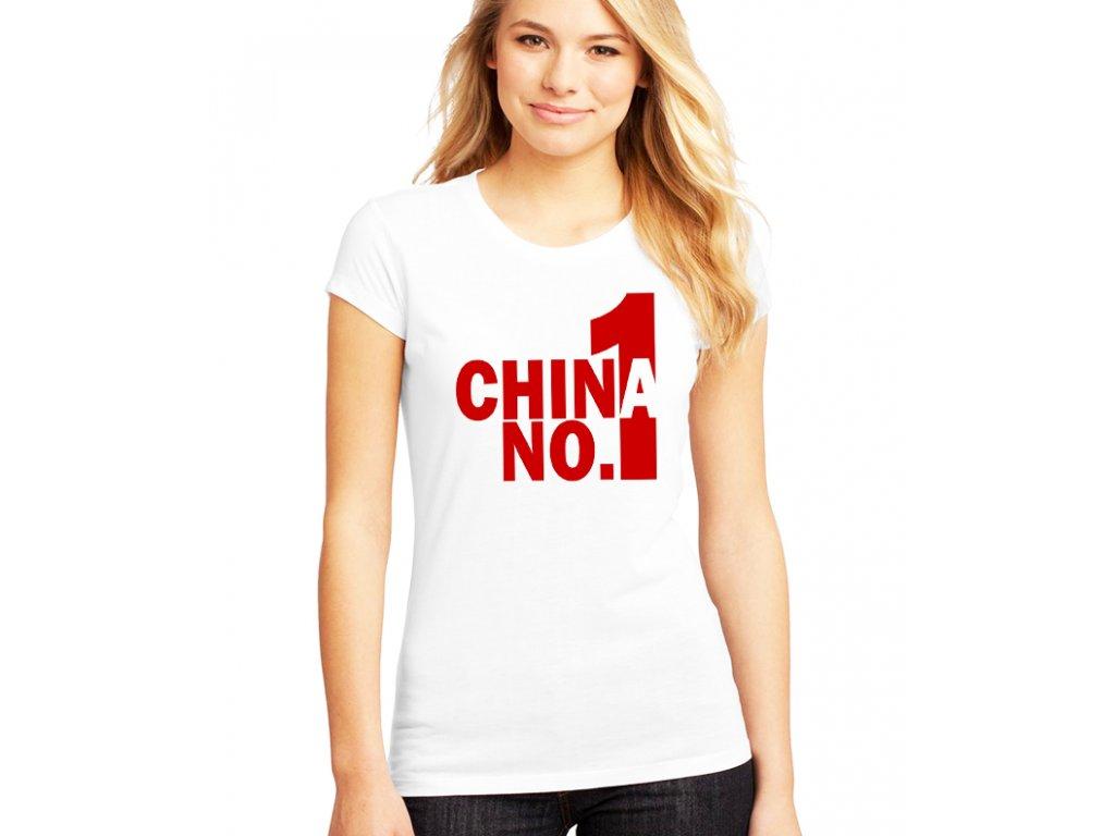 dámské bílé tričko pubg china number one