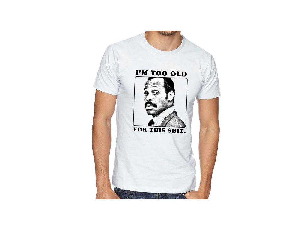 pánské bílé tričko smrtonostná zbraň